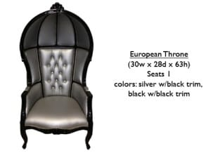 European Throne w/ Trim