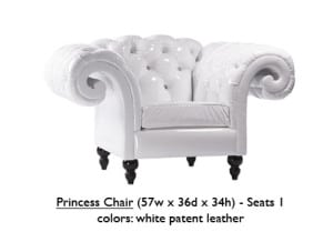 Patent Leather Princess Chair
