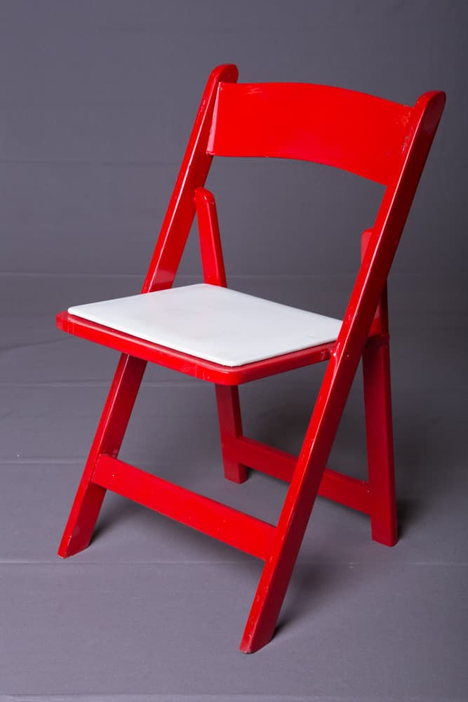 Red Wood Folding Chair