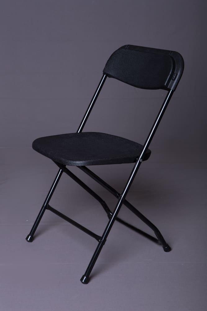 Black Samsonite Plastic Folding Chair