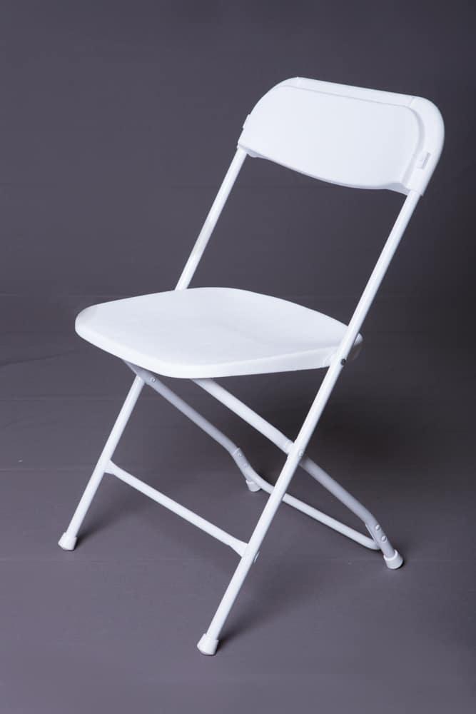 White Samsonite Plastic Folding Chair