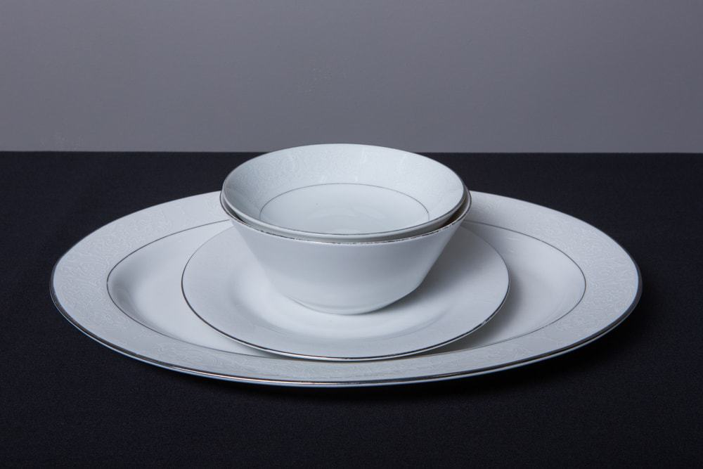 fine-white-china-set-with-platinum-border-dinnerware- & China Rentals - Dinnerware Rentals for Parties u0026 Events in Los Angeles