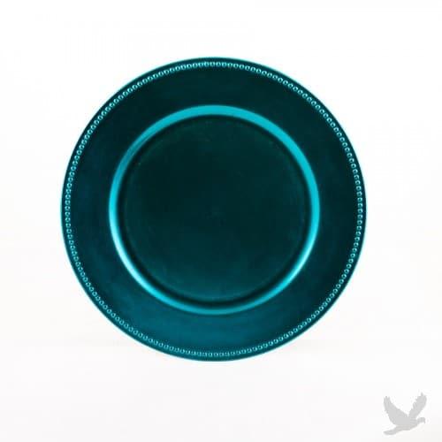 peacock-charger-plate-dinnerware-rental-in-los-angeles