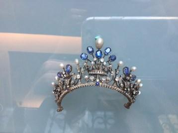 Aquamarine, Diamond & Pearl Tiara; Mouawad Museum