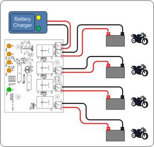 Battery Charger Sharing Controller