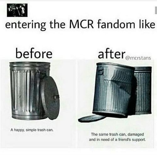 Entering The Mcr Fandom Like Before After A Happy Simple Trash Can