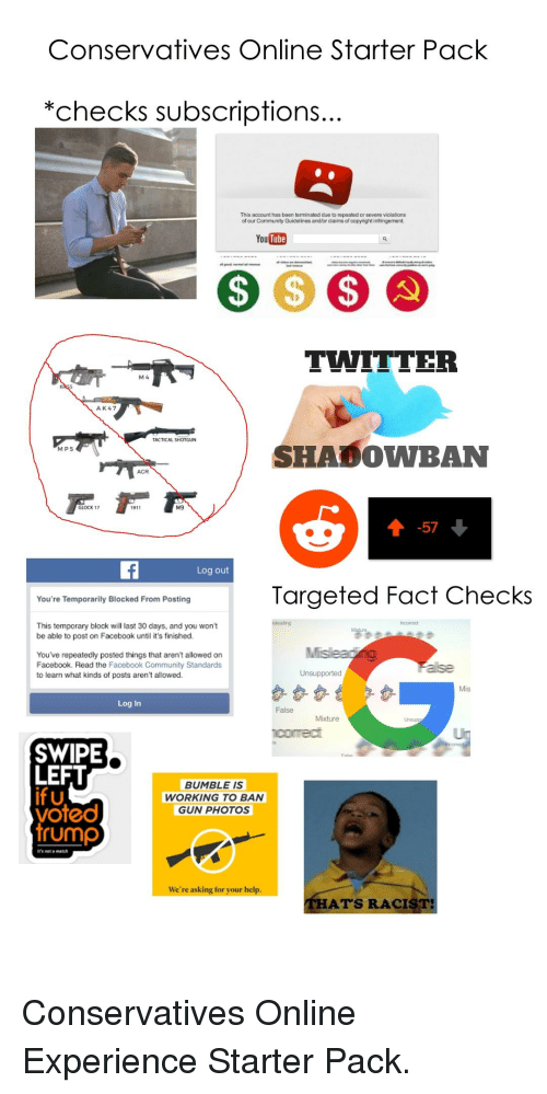 Conservatives Online Starter Pack Checks Subscriptions This
