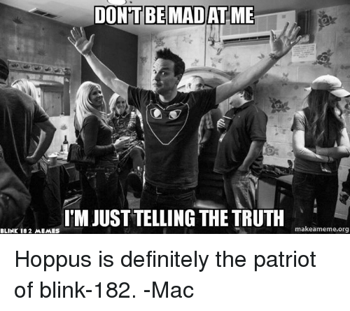 Dontbemadatme Im Just Telling The Truth Make Amemeorg Blink 182