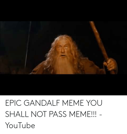You Shall Not Pass The Cell Membrane Confused Gandalf Make A Meme