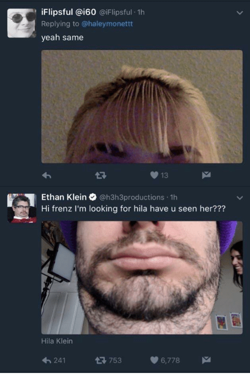 Ethan Klein On Twitter Thanks To Taron O For The Sexy Cleavage