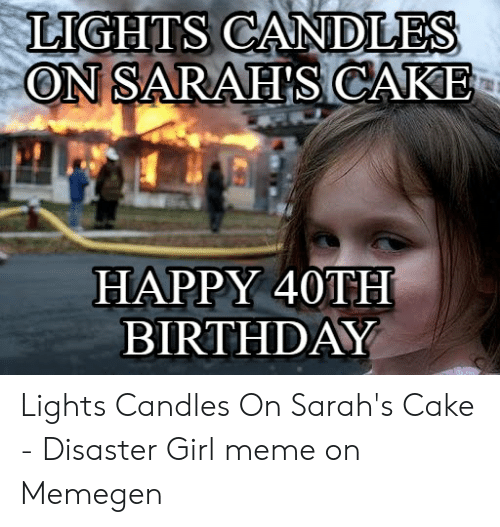 Lights Candles On Sarahs Cake Happy 40th Birthday Lights Candles