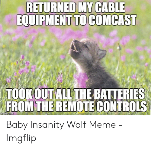 Returned My Cable Equipment To Comcast Took Out All The Batteries