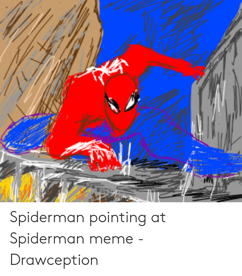 Several Spider Man Pointing At Each Other Not Just Two