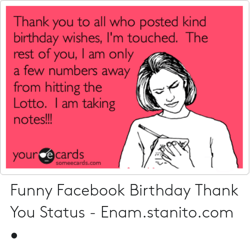 24 Funny Thank You Memes For Birthday Wishes Factory Memes