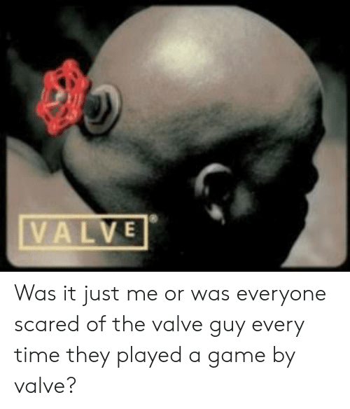 Valve Was It Just Me Or Was Everyone Scared Of The Valve Guy Every