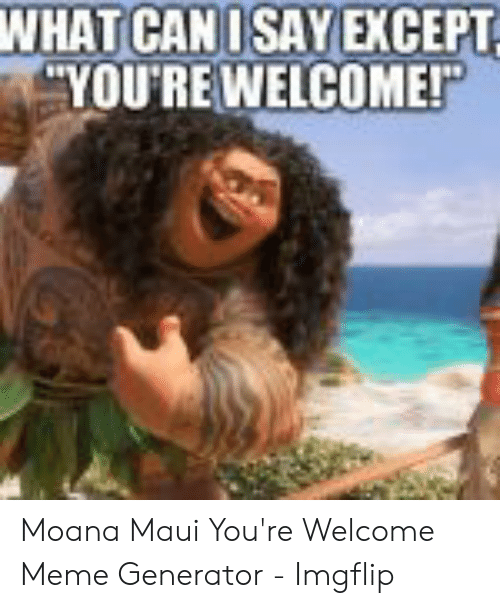 25 Best Memes About Moana You Re Welcome Meme Moana You Re