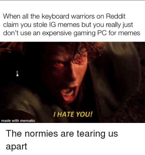 When All The Keyboard Warriors On Reddit Claim You Stole Ig Memes