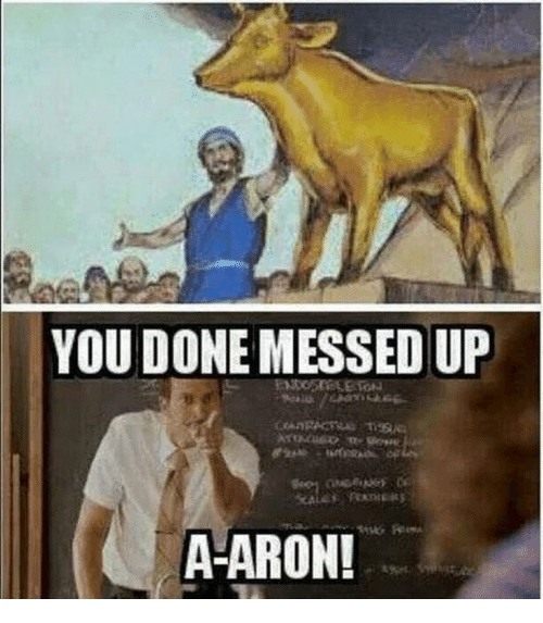 You Done Messed Up A Aron You Meme On Awwmemes Com