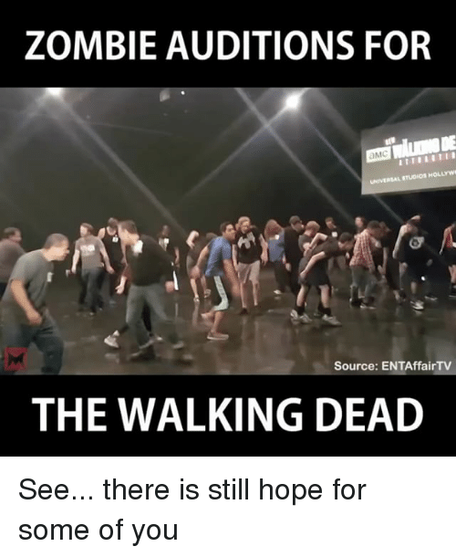 Zombie Auditions For Amc Universal Rtudios Hollywi Source