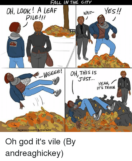 Fall In The City Oh Look A Leaf Pile Wait Yesii 1 R Just Yeah