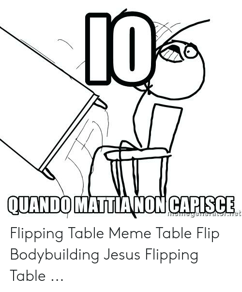 Io Quando Mattianon Capisce Flipping Table Meme Table Flip