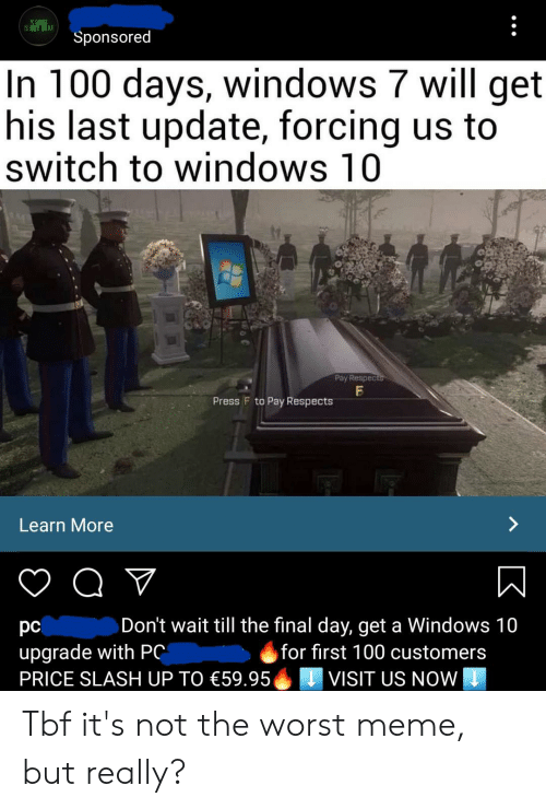 Pc Gaming Is Not Dead Sponsored In 100 Days Windows 7 Will Get His