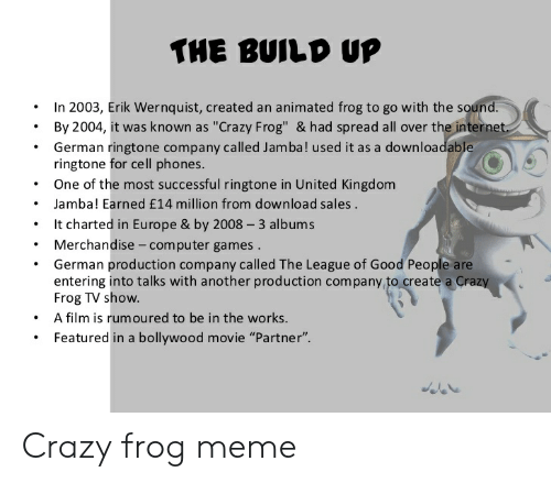 The Build Up In 2003 Erik Wernquist Created An Animated Frog To Go