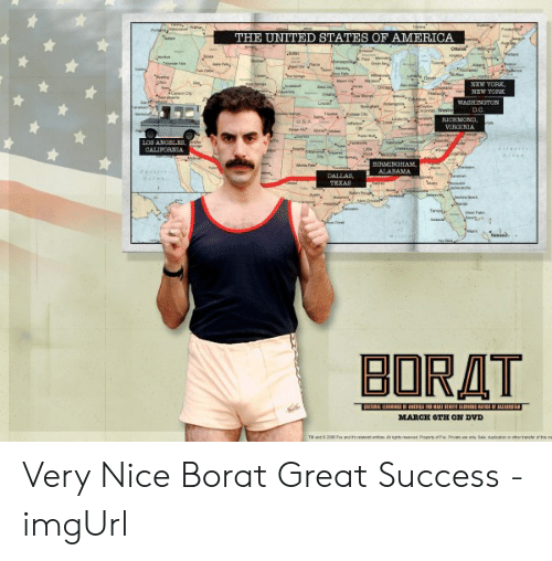 The United States Of America New Yorr Borat March 6th On Dvd Very