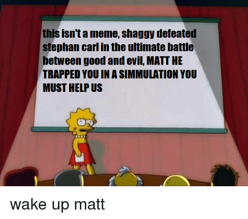 This Isnta Meme Shaggy Defeaten Stephan Carl In The Ultimate