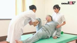 若手看護師2人が患者の体をリハビリさせるために中出し性交! のサンプル画像 2枚目