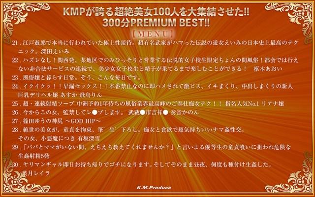【VR】KMPが誇る超絶美女100人を大集結させた!!300分 PREMIUM BEST!!3