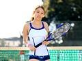 テニス競技歴12年 インターハイ出場!167cm細身7頭身!本物女子大生アスリートAVデビュー 錦野圭子20歳のサンプル画像
