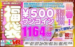 【VR】新春!超特別大サービス¥500ワンコイン福袋4KVR 53タイトル1164分