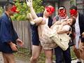 美熟女本物ハード作品!!ぶっかけの儀式 村人専用のザーメン便器になった人妻 翔田千里のサンプル画像