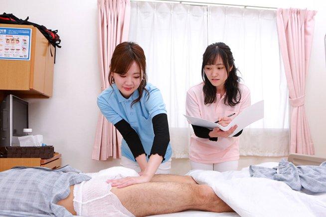 尿もれ改善トレーニング中に美人理学療法士がおっぱいを押しつけてくるので勃起が止まらない(3)