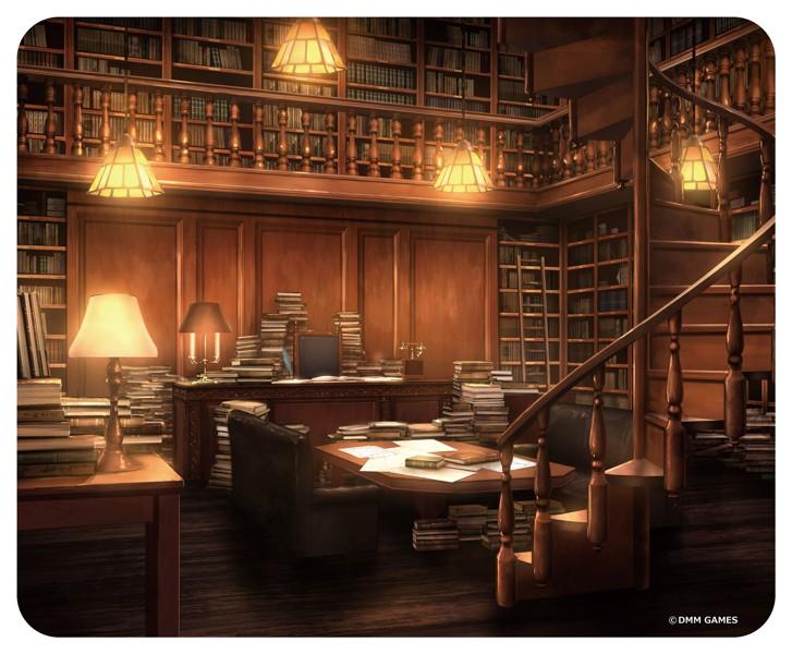 文豪とアルケミスト 背景画マウスパッド(館長の部屋)