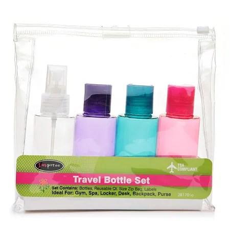 Handy Solutions 4 Piece Travel Bottle Kit - TSA Approved