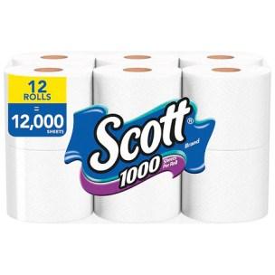 Scott Toilet Paper - 1000.0 ea x 12 pack