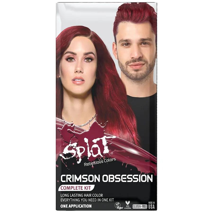 Splat Hair Color Complete Kit Crimson Obsession Walgreens