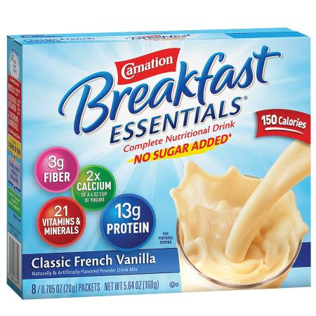 Complete Nutritional Drink, No Sugar Added, Packets Classic French Vanilla Complete Nutritional Drink, No Sugar Added, Packets Classic French Vanilla