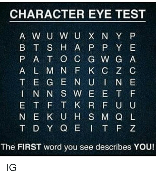 The First Word You See Describes You A X Q Q T X H D G A Y Tag