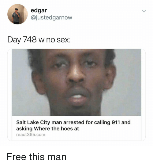 Edgar Day 748 W No Sex Salt Lake City Man Arrested For Calling 911
