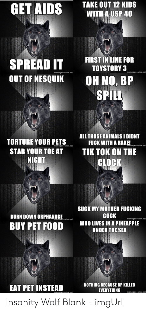 25 Best Memes About Insanity Wolf Meme Generator Insanity