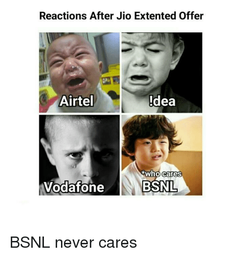 Reactions After Jio Extented Offer Airtel Idea Who Cares Vodafone