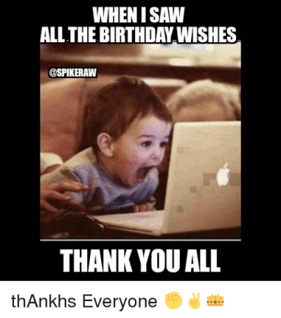 funny birthday thank you images