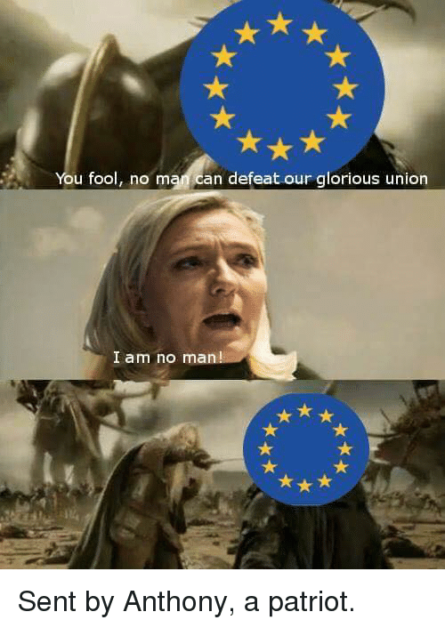 You Fool No Mam Can Defeat Our Glorious Union I Am No Man Sent By