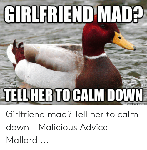 Me Babe Calm Down It S Not A Big Deal My Girlfriend Goose Up Your