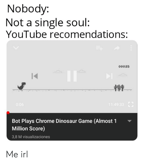 Or The Dinosaur Game From Chrome Memes