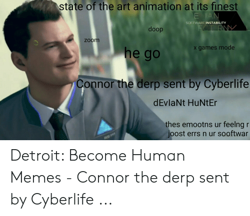 I Pet My Android Hank Connor Detroit Become Human Meme Youtube