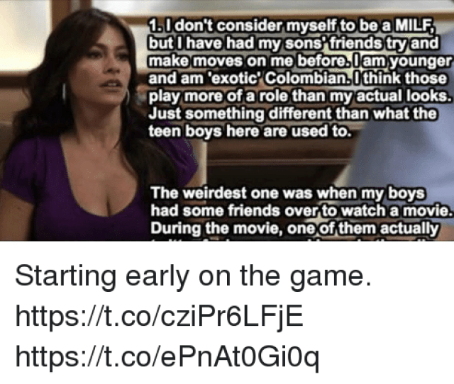 Friends Funny And Milf 1 I Dont Consider Myself To